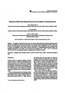 Removal of H2S from Exhaust Gas by Use of Alkaline Activated Carbon