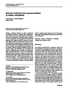 Removal of thorium from aqueous solutions by sodium clinoptilolite