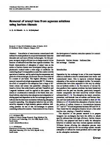 Removal of uranyl ions from aqueous solutions using barium titanate