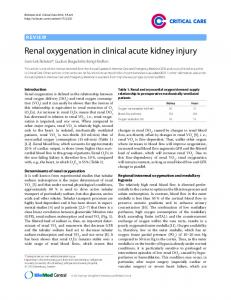 Renal oxygenation in clinical acute kidney injury