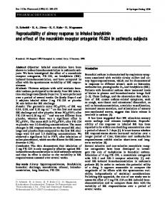 Reproducibility of airway response to inhaled bradykinin and effect of the neurokinin receptor antagonist FK-24 in asthmatic subjects