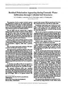 Residual Polarization Appearing during Unsteady Water Infiltration through Colloidal Soil Structures