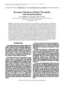 Resonance vibrations of elastic waveguides with inertial inclusions