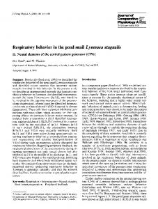 Respiratory behavior in the pond snail Lynmaea stagnalis