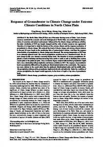 Response of groundwater to climate change under extreme climate conditions in North China Plain