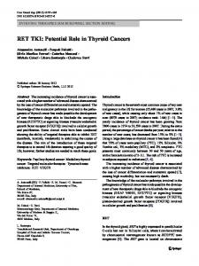 RET TKI: Potential Role in Thyroid Cancers