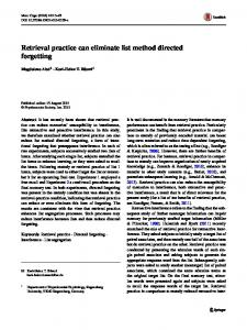 Retrieval practice can eliminate list method directed forgetting