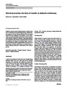 Retrieval practice: the lack of transfer to deductive inferences