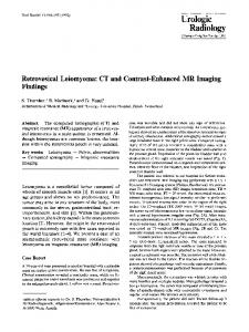 Retrovesical leiomyoma: CT and contrast-enhanced MR imaging findings