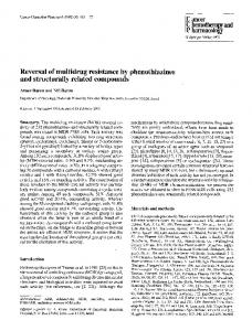 Reversal of multidrug resistance by phenothiazines and structurally related compounds
