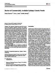 Review of Commercially Available Epilepsy Genetic Panels