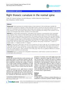 Right thoracic curvature in the normal spine