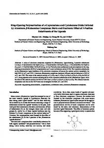 Ring-opening polymerization of ε-caprolactone and cyclohexene oxide initiated by aluminum β-ketoamino complexes: steric and electronic effect of 3-position substituents of the ligands