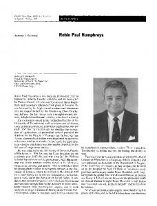 Robin Paul Humphreys
