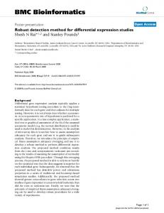 Robust detection method for differential expression studies