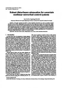 Robust disturbance attenuation for uncertain nonlinear networked control systems