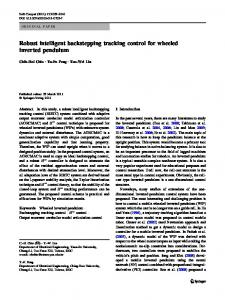 Robust intelligent backstepping tracking control for wheeled inverted pendulum