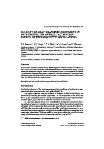 Role of the heat-transfer coefficient in determining the overall activation energy of thermokinetic oscillations