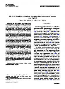 Role of the Himalayan Orography in Simulation of the Indian Summer Monsoon using RegCM3