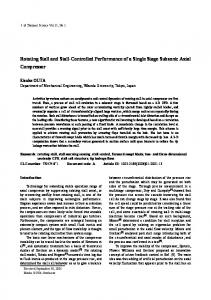 Rotating stall and stall-controlled performance of a single stage subsonic axial compressor