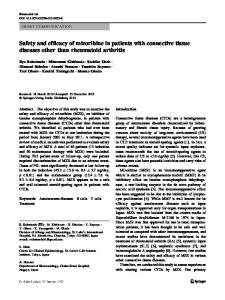 Safety and efficacy of mizoribine in patients with connective tissue diseases other than rheumatoid arthritis