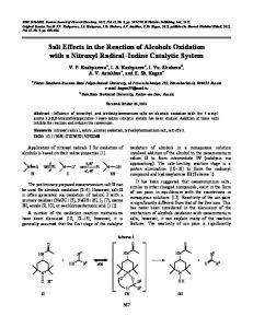 Salt effects in the reaction of alcohols oxidation with a nitroxyl radical-iodine catalytic system