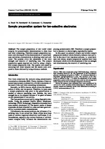Sample preparation system for ion-selective electrodes