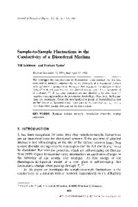 Sample-to-sample fluctuations in the conductivity of a disordered medium