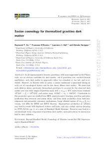 Saxion cosmology for thermalized gravitino dark matter