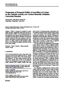 SBA-15 and Effect of Cerium on the Catalytic Activity over Carbon Monoxide Oxidation Conversion Reaction