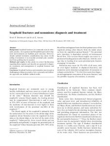 Scaphoid fractures and nonunions: diagnosis and treatment