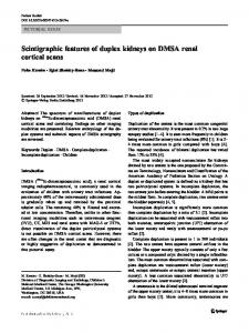 Scintigraphic features of duplex kidneys on DMSA renal cortical scans
