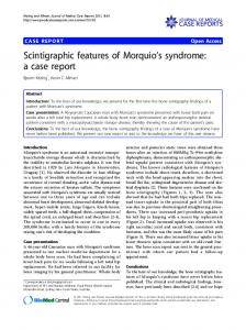 Scintigraphic features of Morquio's syndrome: a case report