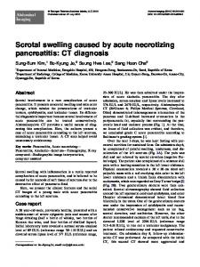 Scrotal swelling caused by acute necrotizing pancreatitis: CT diagnosis