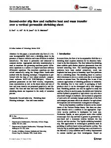 Second-order slip flow and radiative heat and mass transfer over a vertical permeable shrinking sheet