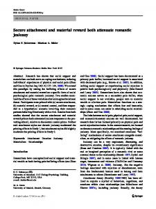 Secure attachment and material reward both attenuate romantic jealousy