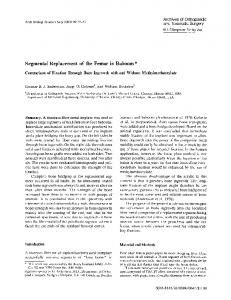 Segmental replacement of the femur in baboons