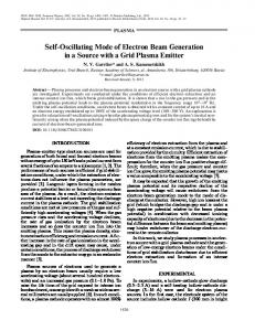 Self-oscillating mode of electron beam generation in a source with a grid plasma emitter