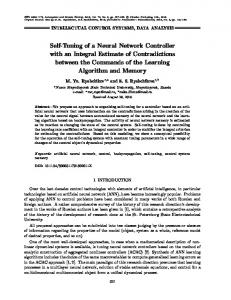 Self-Tuning of a Neural Network Controller with an Integral Estimate of Contradictions between the Commands of the Learning Algorithm and Memory