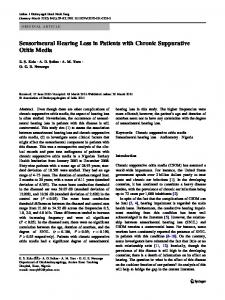 Sensorineural Hearing Loss in Patients with Chronic Suppurative Otitis Media