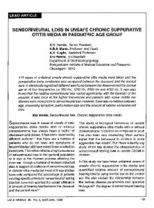 Sensorineural loss in unsafe chronic suppurative otitis media in paediatric age group