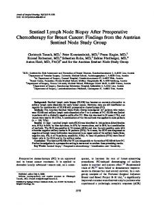 Sentinel Lymph Node Biopsy After Preoperative Chemotherapy for Breast Cancer: Findings from the Austrian Sentinel Node Study Group