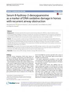 Serum 8-hydroxy-2-deoxyguanosine as a marker of DNA oxidative damage in horses with recurrent airway obstruction