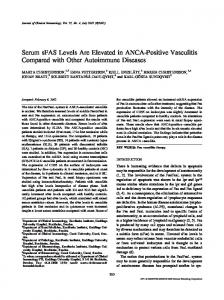 Serum sFAS Levels Are Elevated in ANCA-Positive Vasculitis Compared with Other Autoimmune Diseases