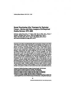 Sexual Functioning After Treatment for Testicular Cancer—Review and Meta-Analysis of 36 Empirical Studies Between 1975–2000