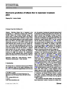 Short-term prediction of influent flow in wastewater treatment plant