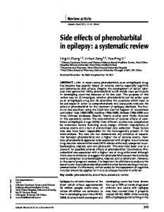 Side effects of phenobarbital in epilepsy: a systematic review