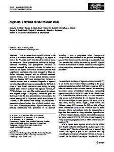 Sigmoid Volvulus in the Middle East