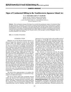 Signs of continental rifting in the southwestern Japanese Island Arc