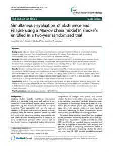 Simultaneous evaluation of abstinence and relapse using a Markov chain model in smokers enrolled in a two-year randomized trial